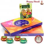 Double Celebrations - 2 Cadbury Celebrations with 4 Diyas and Laxmi-Ganesha Coin