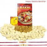 Kaju Kishmish - Cashewnuts & Raisins with 2 Rakhi and Roli-Chawal
