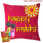 Happy Rakhi Cushion (Rakhi & Tika NOT Included)