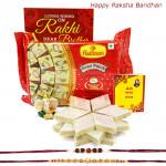 Super Sweet - Soan Papdi, Kaju Katli, Ganesh Idol with 2 Rakhi and Roli-Chawal