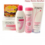 Ponds Combo - Ponds Beauty Hamper (Ponds Triple Vitamin Moisturizing Lotion, Ponds Flawless White Deep Whitening Facial Foam, Ponds White Beauty Anti-Spot SPF 15 PA++ Fairness Cream, Ponds Dream Flower Talc)