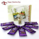 Message N Milky - Messages in a Bottle, 7 Dairy Milk and Card