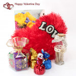 Small Token - Messages in a Bottle, Small Heart Pillow, Handmade Chocolates Decorative Pack and Card