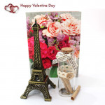 Message of Love - Messages in a Bottle, Paris Eiffel Tower and Card