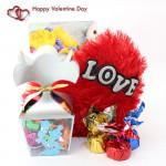Handmade Love - Small Heart Pillow, Handmade Chocolates Decorative Pack and Card