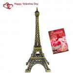 Paris Eiffel Tower & Valentine Greeting Card