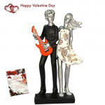 Cute Couple Showpiece & Valentine Greeting Card