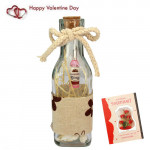 Love Bottle in a Bottle & Valentine Greeting Card