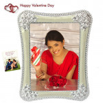 Floral Decorative Photo Frame & Valentine Greeting Card