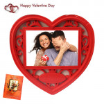 Heart Shaped Photo Frame & Valentine Greeting Card