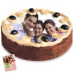 2 Kg Round Shaped Butter Scotch Photo Cake & Card