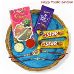 Choco Allure - 2 Five Star, Dairy Milk with 2 Rakhi and Roli-Chawal