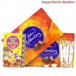 Double Celebration - 2 Cadbury Celebrations with 2 Rakhi and Roli-Chawal