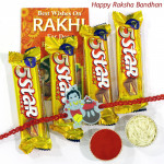Five Star Wishes - 4 Five Star with 1 Kids Rakhi and Roli-Chawal