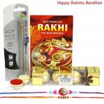 Meritworthy - Parker Beta Standard Ball Pen, Ferrero Rocher 4 Pcs with 2 Rakhi and Roli-Chawal