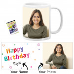 Happy Birthday Personalized Mug & Card