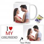 I Love My Girlfriend Personalized Mug & Card