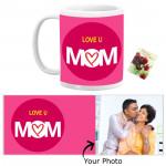 Personalized Love U Mom Mug & Card