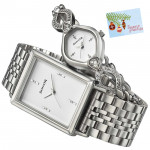 Sonata Silver Couple Watch