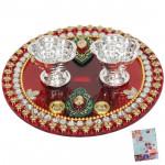Round Divine - Round Designer Thali (5 inch) and Card