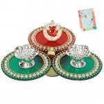 Ganesha Special - Auspicious Ganesha Thali (6 inch x 5.5 inch) and Card