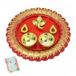 Ganesh Thali - Ganesh Designer Thali (5 inch) and Card