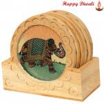 Elephant Design Tea Coaster