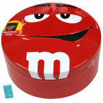 Smiley Metal Box with M&M Chocolates