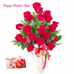 Tenderly Yours - 30 Red Roses in Vase and card
