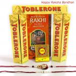 Toblerone Hamper - Toblerone 5 Pcs with 2 Rakhi and Roli-Chawal