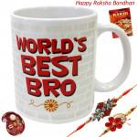 Love of Rakhi - World's Best Bro Mug with 2 Rakhi and Roli-Chawal