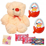 Fun Time - Small Teddy, 2 Kinder Joy, 2 Kitkat, 1 Gems & Card