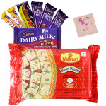 Soan Chocolates - Haldiram Soan Papdi 250 gms, Assorted Cadbury Hamper Bar & Card
