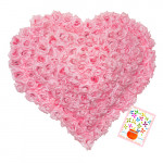 Phenomenal - Heart Shape Basket Arangement Of 125 Pink Roses + Card