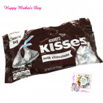 Mother Kisses - Hershey's Kisses - Milk Chocolate and Mother's Day Greeting Card