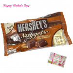 Creamy Mother - Hershey's Nuggets - Extra Creamy Milk Chocolate with Toffee & Almonds and Mother's Day Greeting Card