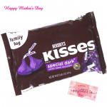 Complimentry Kisses - Hershey's Kisses - Special Dark and Mother's Day Greeting Card