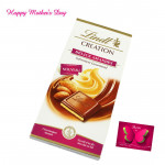 Special for Mother - Lindt Creation Delice Amandes and Mother's Day Greeting Card
