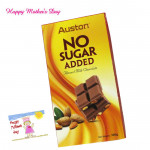 Milky Almond - Auston No Sugar Added Almond Milk Chocolate and Mother's Day Greeting Card