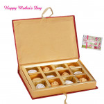 Surprise for Mother - Assorted Chocolates 12 pieces and Mother's Day Greeting Card