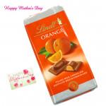 Tangy Orange - Lindt Orange 100 gms and card