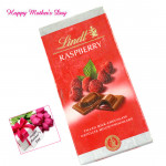 Yummy Raspberry - Lindt Raspberry 100 gms and card