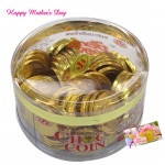 Gold Coin - Chocolate Flavour Choc Coin 168 gms and card