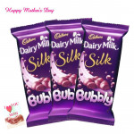 Bubbled of Joy - 3 Dairy Milk Silk Bubbly 50 gms each and card