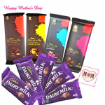 Sweet N Dark - 4 Bournville 33 gms each, 5 Dairy Milk 34 gms and card