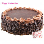 Chocolate Cake - Chocolate Cake 1 kg and Mother's Day Greeting Card