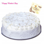Vanilla Cake - Vanilla Cake 1 kg and Mother's Day Greeting Card