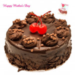 Chocolate Truffle Cake - Chocolate Truffle Cake 1 kg and Mother's Day Greeting Card