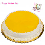 Pineapple Cake - Pineapple Cake 1.5 kg and Mother's Day Greeting Card