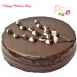 Chocolat Cake - Chocolate Cake 2 kg and Mother's Day Greeting Card